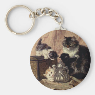 Teatime_For_Kittens Basic Round Button Keychain