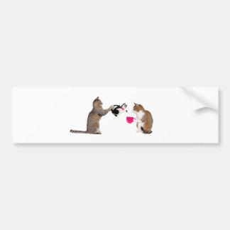 Teatime for kitty cats bumper sticker