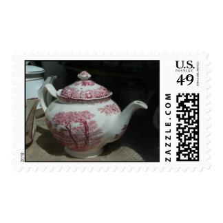 Teatime - Vintage English Teapot Postage Stamp