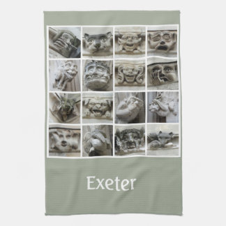 Teatowel de los gargoyles de Exeter Toallas De Cocina