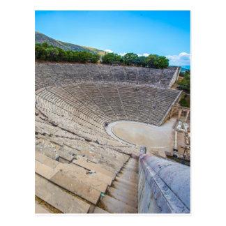 teatro antiguo en Epidaurus, Argolis, Grecia Postales