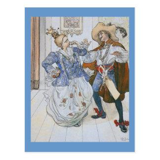 Teatro azul 1900 del pájaro tarjetas postales