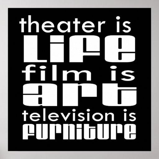 Teatro contra la película contra la TV Posters