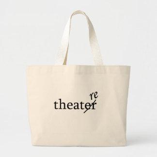 Teatro contra teatro bolsa tela grande