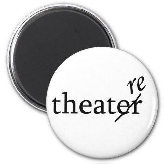 Teatro contra teatro imán redondo 5 cm
