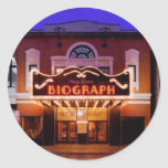 Teatro de Biograph Pegatina Redonda