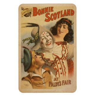 Teatro de Bonnie Escocia del vintage - imán