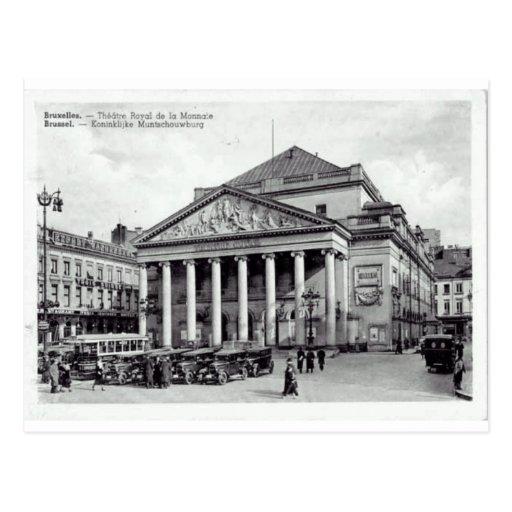 Teatro de Bruselas, Bélgica real Tarjetas Postales