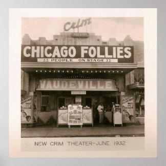 Teatro de Crim, vodevil, Kilgore, TX 1931/32 Póster