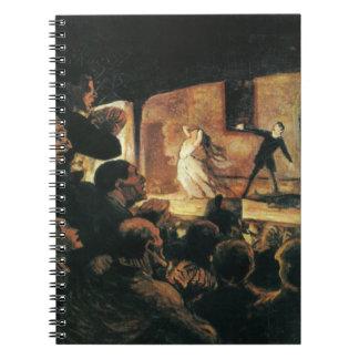 Teatro de Honore Daumier Libreta Espiral