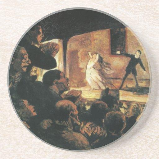Teatro de Honore Daumier Posavasos Para Bebidas