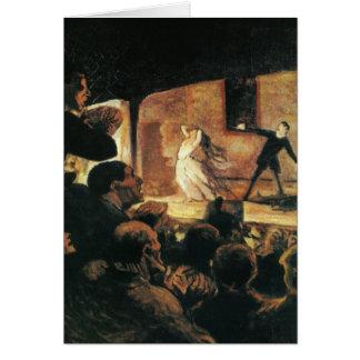 Teatro de Honore Daumier Tarjeta Pequeña
