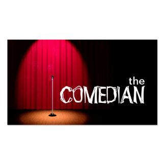 Teatro de la comedia del ejecutante del entretenim plantilla de tarjeta de negocio