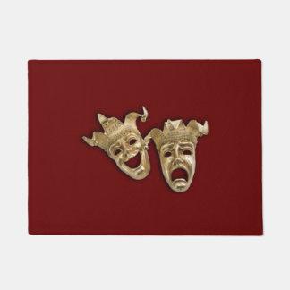 Teatro de la comedia y de la tragedia felpudo