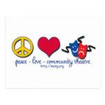 Teatro de la comunidad del amor de la paz tarjetas postales