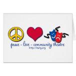 Teatro de la comunidad del amor de la paz tarjeton