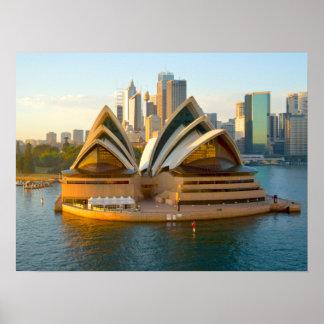 Teatro de la ópera Australia de Sydney del poster