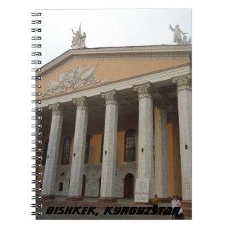 Teatro de la ópera comunista de la arquitectura, libreta espiral