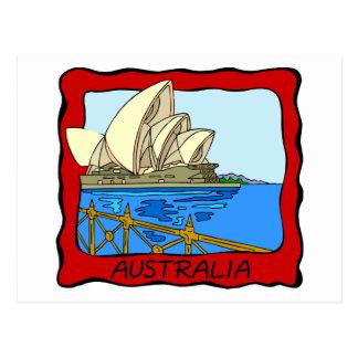 Teatro de la ópera de Australia - de Sydney Tarjeta Postal