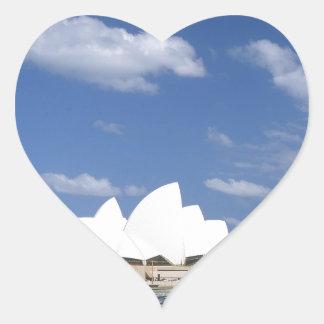 Teatro de la ópera de Australia Sydney Pegatina En Forma De Corazón