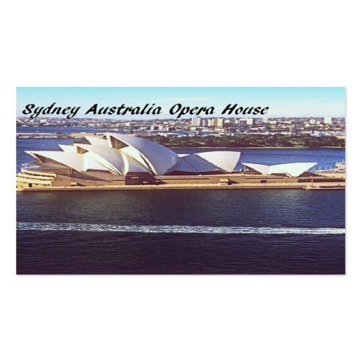 Teatro de la ópera de Australia Tarjetas De Visita