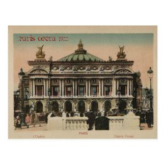 Teatro de la ópera de L'Paris del recuerdo de Postales