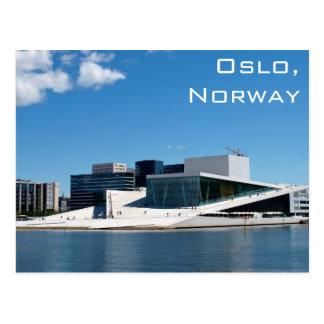 Teatro de la ópera de Oslo en Noruega en un día de Tarjetas Postales