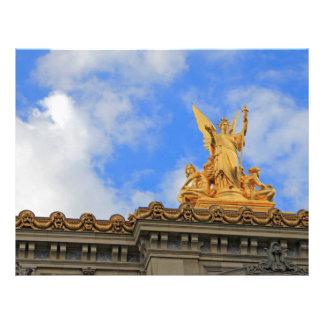 Teatro de la ópera de París Membrete A Diseño