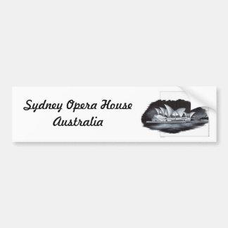 Teatro de la ópera de Sydney (Australia) Etiqueta De Parachoque