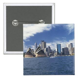 Teatro de la ópera de Sydney, Australia Pin Cuadrada 5 Cm