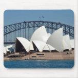 Teatro de la ópera de Sydney con el fondo del puen Tapetes De Ratones