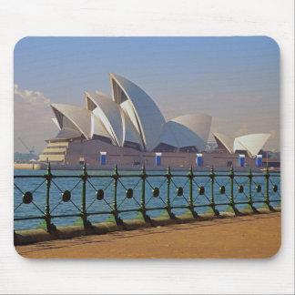 Teatro de la ópera de Sydney con la cerca Mousepad Alfombrillas De Ratón