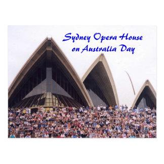 Teatro de la ópera de Sydney el el día de Australi Postal