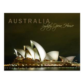 Teatro de la ópera de Sydney en la noche Tarjeta Postal