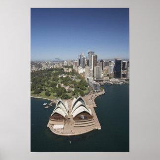 Teatro de la ópera de Sydney jardines botánicos r Poster