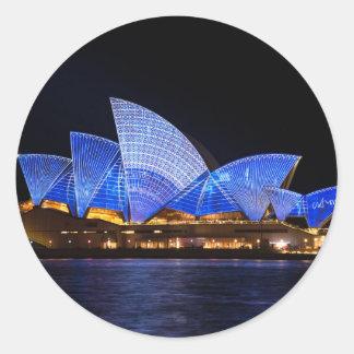 Teatro de la ópera de Sydney Pegatinas Redondas