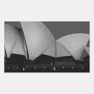 Teatro de la ópera de Sydney Pegatina Rectangular