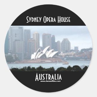 Teatro de la ópera de Sydney Pegatina Redonda
