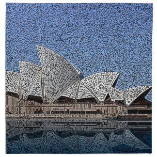 Teatro de la ópera de Sydney Servilleta Imprimida