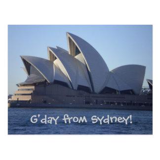 Teatro de la ópera de Sydney Tarjeta Postal