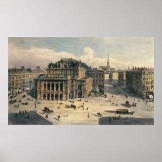 Teatro de la ópera del estado de Viena, c.1869 Póster