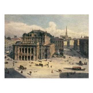 Teatro de la ópera del estado de Viena, c.1869 Tarjetas Postales