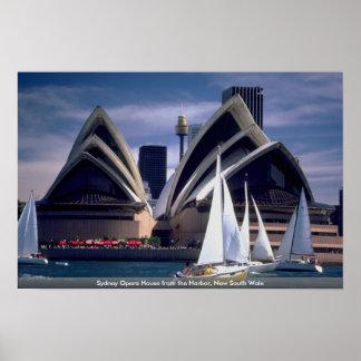 Teatro de la ópera del puerto nuevo Wale del sur Posters