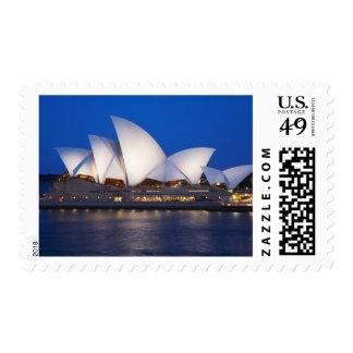 Teatro de la ópera en la noche, Sydney, nuevo sur Sellos