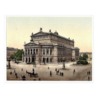 Teatro de la ópera, Frankfort en la tubería (es de Postal