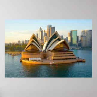 Teatro de la ópera grande Australia del poster el