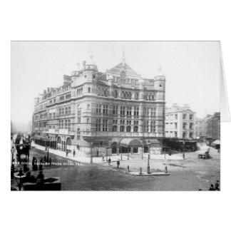 Teatro de la ópera inglés real 1891 felicitaciones