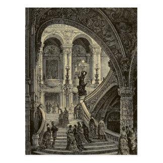 Teatro de la ópera magnífico 1877 de París de la Postal