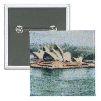 Teatro de la ópera magnífico de Sydney Pin Cuadrada 5 Cm