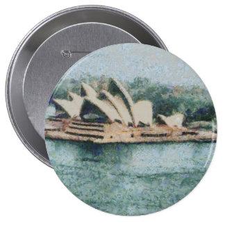 Teatro de la ópera magnífico de Sydney Pin Redondo 10 Cm